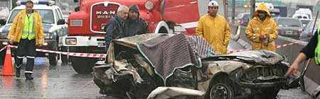 Accidente Panamericana 13/10/2006 - Foto: LaNacion.com