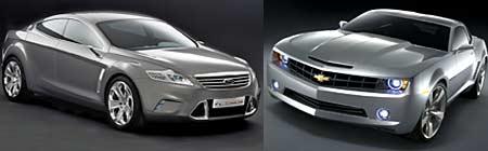 Ford Iosis y Chevrolet Camaro
