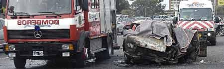 Accidente en la Panamericana - Foto: Diario La Nación