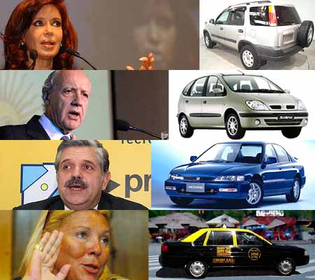 Elecciones nacionales: los candidatos y sus autos