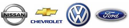 Nissan, Chevrolet, Volkswagen y Ford