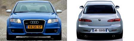Audi RS4 y Alfa Romeo 159