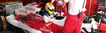 Caito Risatti sobre el Toyota de F1