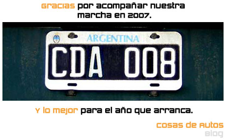 Feliz 2008 - Cosas de Autos Blog