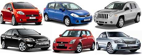Los más seguros de 2007: Fiat Punto, Nissan Tiida, Jeep Compass, Ford Mondeo, Suzuki Swift, Kia Magentis.