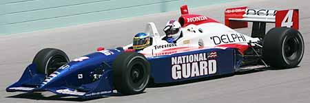 Nalbandian en un IndyCar en Homestead, Miami
