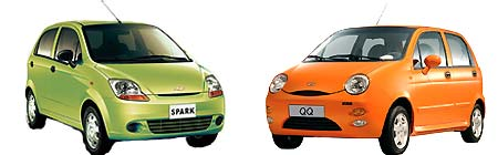Chevrolet Spark versus Chery QQ