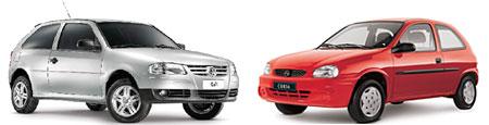 Volkswagen Gol y Chevrolet Corsa Classic