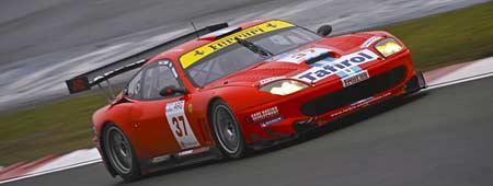 Esteban Tuero y Gastón Mazzacane en Silverstone en la FIA GT. Foto: Prensa FIA GT.