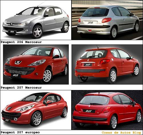 Peugeot 206 actual, del Peugeot 207 del Mercosur y del Peugeot 207 de Europa. - Especial de Cosas de Autos Blog