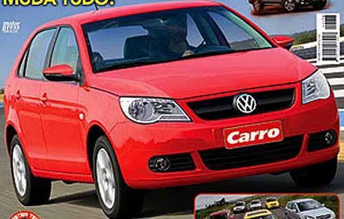 Nuevo Volkswagen Gol - Foto: tapa de junio de la revista Carro.