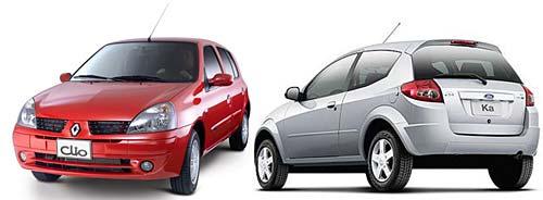 Renault Clio y Nuevo Ford Ka