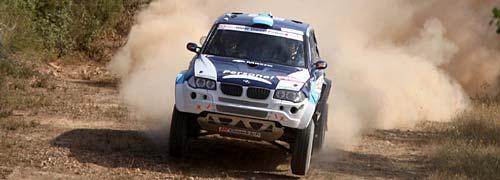 Orlando Terranova en el Rally Transibérico