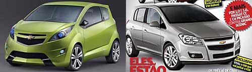Chevrolet Beat Concept y recreación del Chevrolet Viva por la Revista Autoesporte de junio de 2008