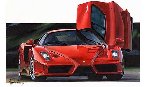 Ferrari Enzo por Maurizio Corbi - Cooyright: Maurizio Corbi