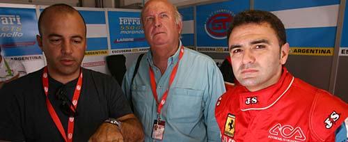 Pablo Peón, Carlos García Remohí y Esteban Tueron en el box de Adria - Foto: FIA GT