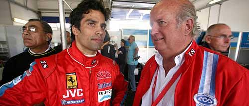 Martín Basso y Carlos García Remohí en los boxes de Oscherleben - Foto: Prensa FIA GT