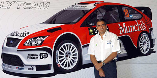 Luis Pérez Companc piloto del Munchi's Ford World Rally Team