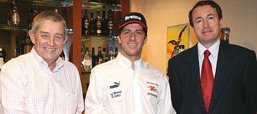Ricardo Destefano, Director Comercial de Branca, Orly Terranova y Enrico Piqué, Country Manager de Branca