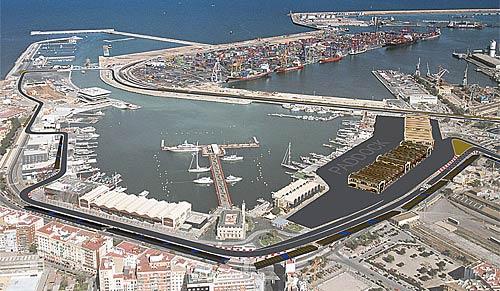 Recreación del circuito de Valencia