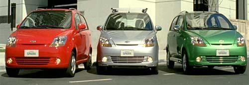 El Chevrolet Spark está disponible en siete colores