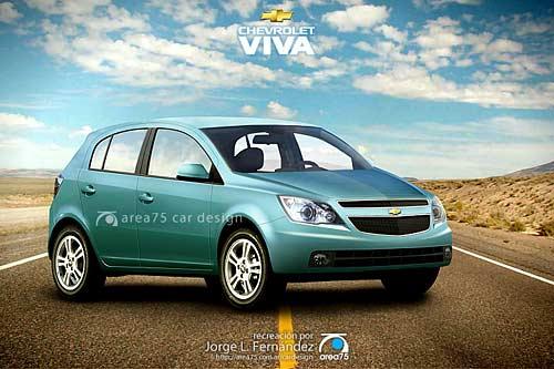 Chevrolet Viva hatchback - Recreación a cargo de Jorge Fernández de Area75