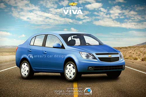 Chevrolet Viva Sedán - Recreación a cargo de Jorge Fernández de Area75