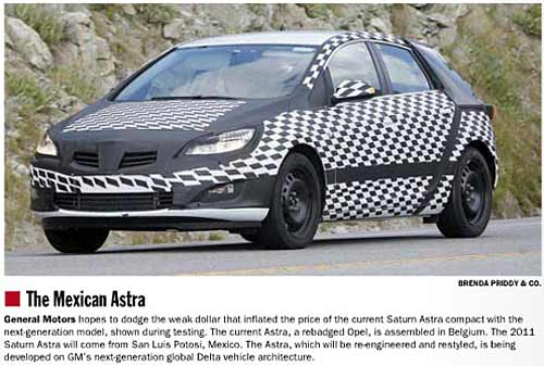 Nuevo Astra - Foto: Automotive News