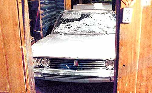Así quedó el Fiat 130 de Perón - Foto: Clarín