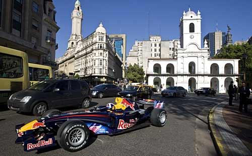 El Red Bull en el Cabildo de Buenos Aires