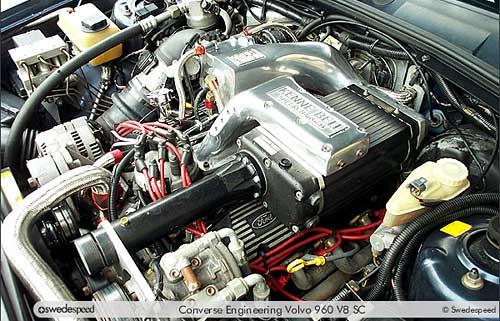 El motor de la rural Volvo de 400 hp de Paul Newman