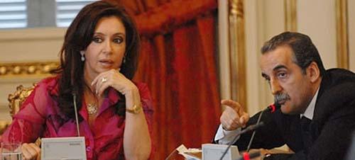 Guillermo Moreno junto a la presidenta Cristina Fernández