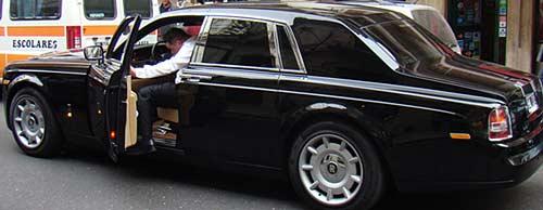 El Rolls-Royce de Mario Roberto Segovia - Foto: Rosario3