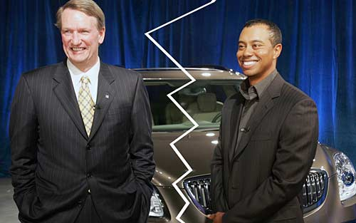 Rick Wagoner y Tiger Woods