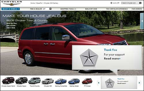 """Chrysler le dice públicamente """"gracias"""" al gobierno por la ayuda económica"""