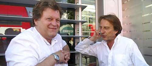 Norbert Haug y Luca di Montezemolo