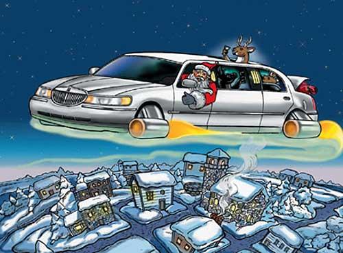 Santa limousine
