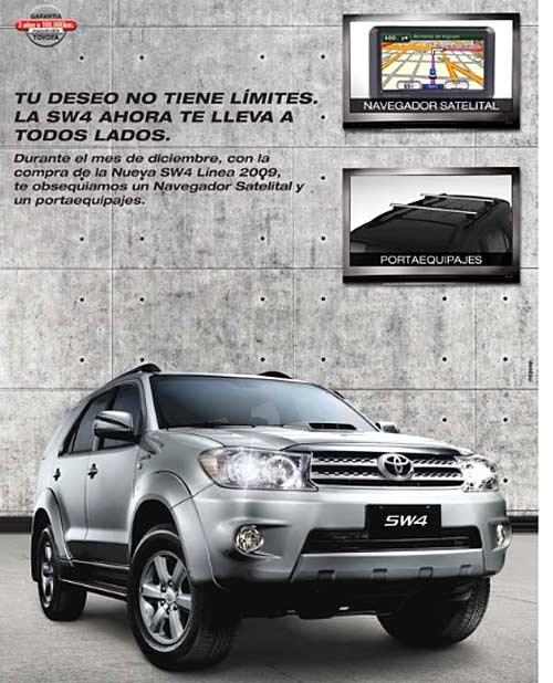 Toyota SW4 con GPS gratis
