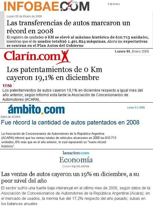 Títulos del 5 de enero de los principales diarios de la Ciudad de Buenos Aires