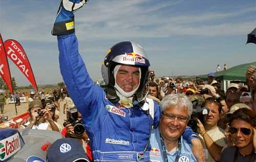 Giniel De Villiers, con Volkswagen Touareg, ganó el Dakar 09 en autos.