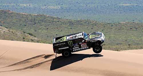Robby Gordon y su Hummer en el Dakar 2009