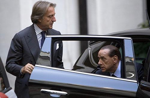 Silvio Berlusconi y Luca Cordero di Montezemolo