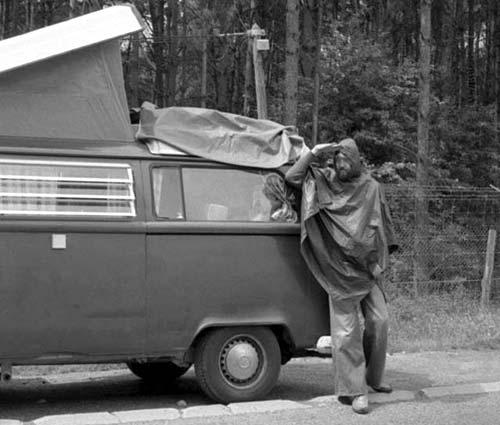 Julio Cortázar y su combi Volkswagen