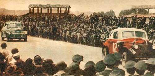 Buenos Aires Caracas de 1948 -  Llegada de los autos a Colombia