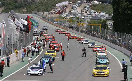 Largada de la FIA GT en San Luis en noviembre de 2008 - Foto. Prensa FIA GT.