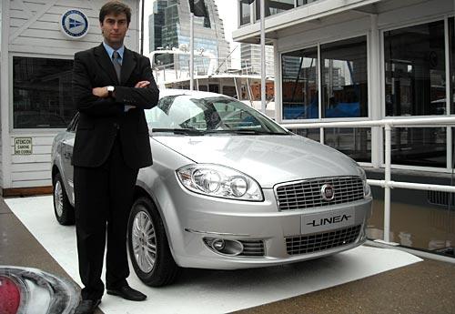 Sergio Vera, de Fiat, en el lanzamiento del Linea