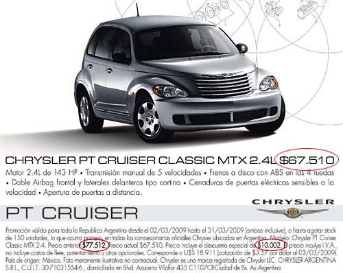 Promo marzo PT Cruiser