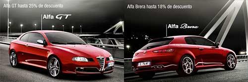 Liquidación de stock de Alfa Romeo en España.