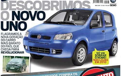 Recreación de Fiat Uno 2010 de la revista AutoEsporte.