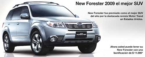 Bonificación Subaru Forester